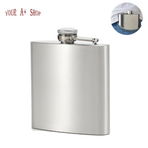 Liquor Bottle Pocket Hip Flask Cylinder RAYNAG 2 oz Mini Stainless Steel Flask /& Funnel Set Silver