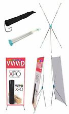 "X Banner Stand Sign Display Telescopic up to 31"" wide x71"" tall One piece design"