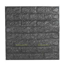 3D PE Foam Stone Brick Self-adhesive Embossed Wall Sticker Panels Decal 60*60cm