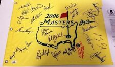 25 GOLF AUTOGRAPHS 2006 MASTERS FLAG PALMER, MICKELSON, PLAYER, COUPLES, BGS LOA