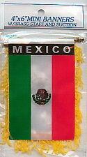 MEXICO CAR FLAG MINI BANNER