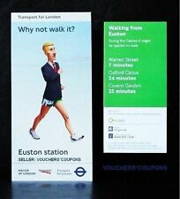 TFL London 2012 Olimpiadi Londra Walking Mappa Euston Station souvenir