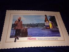 HAMM'S BEER UNUSED table plate place mat ADVERTISING SIGN BEAR new old stock nos