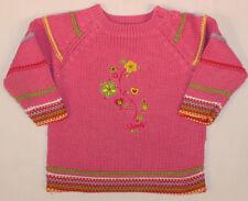 86 Mädchen-Pullover mit Rundhals-Ausschnitt