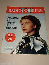 TV RADIOCORRIERE=1961/18=QUEEN ELIZABETH=PAOLO STOPPA=NIVES ZEGNA=