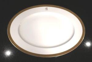 Stunning Antique Rosenthal Selb Plossberg Gold Encrusted Aida Ex Lg Oval Platter
