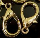 31x17mm X-Large Gold Plated Pewter Lobster Claw Clasps (5) ~ Lead-Free
