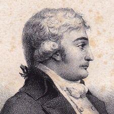 Portrait Jacques Antoine Marie de Cazalès Révolution Française Lithographie 1833