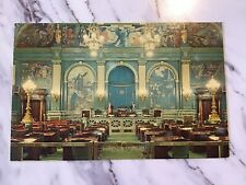 Vintage Postcard Harrisburg, PA The Senate Chamber 1965