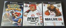 Lot Of 3 Nintendo Gamecube Games; DDR: Mario Mix, MVP Baseball 2004, NBA Live 06