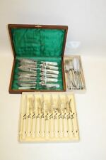 3 x Vintage Silver Plated Fish Butter Knife & Fork Tableware Cutlery Sets