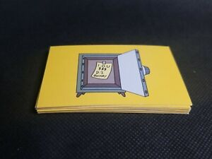 Monopoly The Simpsons Edition Replacement Community Chest 16 Cards See Pictures