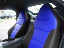 PONTIAC SOLSTICE BLACK/BLUE LEATHER-LIKE CUSTOM MADE FIT FRONT SEAT COVER