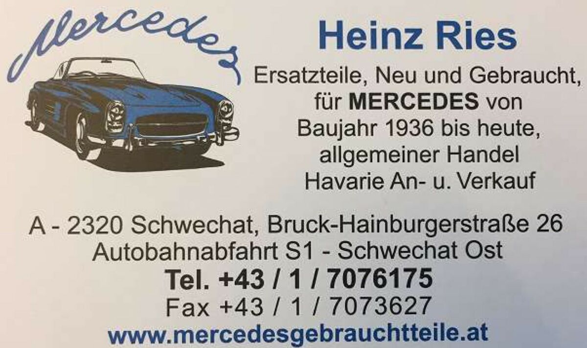 Mercedesgebrauchtteile Ries
