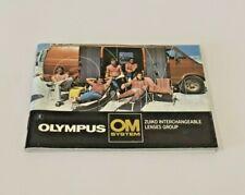 Olympus OM System Zuiko Interchangeable Lenses Booklet