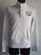 Hollister California mens cotton long sleeve white sweatshirt size S