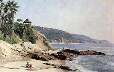 John Stobart Print - Laguna Beach: On-site Painting from PBS WorldScape Series