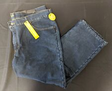 Lee Denim Fleece Lined Jean 46x28 New w/ tags Relaxed Fit Straight Leg