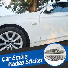 Pair Rline Aluminum Chrome Car Side Front Fender Badge Emblem Sticker Decal