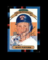 Scott Fletcher Hand Signed 1988 Diamond Kings Texas Rangers Autograph