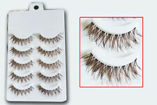 Free shipping High Quality handmade Thick Brown False Eyelashes Fake Eye Lashes