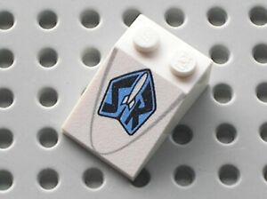 LEGO White Slope 33 3x2 White Rocket Black SR Ref 3298pb040 Set 30073 7592