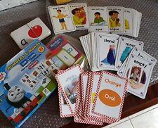 USED Shichida alike flashcard Thomas word alphabet,body,number,opposite,colour