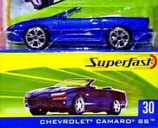 MATCHBOX SUPERFAST CHEVROLET CAMARO SS METALLIC BLUE 1/64 SCALE DIECAST #30