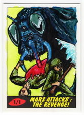 2017 TOPPS MARS ATTACKS REVENGE Matt Steffens 1/1 Sketch Card VICTIMS OF THE BUG