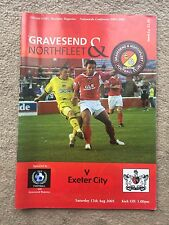 Gravesend & Northfleet v Exeter City - Nationwide Conference 2005/06 Programme