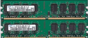 2GB 2x1GB PC2-6400 DDR2-800 SAMSUNG M378T2953CZ3-CE7 RAM MEMORY KIT