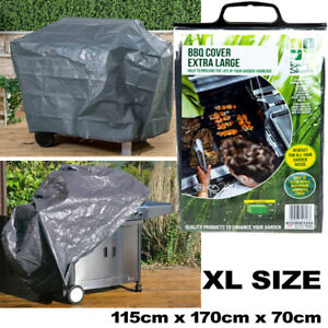 BBQ Cover Waterproof Rain Barbecue Grill Gas Garden Grey XL LARGE SIZE 170cm