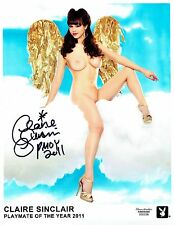 "Claire Sinclair Signed 8""x10"" Photo - Playboy PMOY 2011 - Angel"