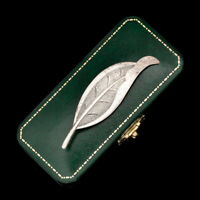 Antique Vintage Deco Mid Century Sterling Silver BEAUCRAFT BEAU Leaf Pin Brooch