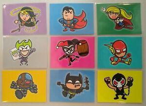 2014 DC Epic Battles Trading Cards BAM! Insert Stickers Variant Full Set of 9 !