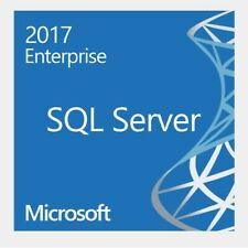 Microsoft SQL Server 2017 Enterprise with 16 Core License Unlimited User CAL