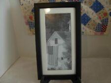 Primitive Black & White Americana Farm House Framed Print