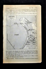 1909=Topografic Plan ANCONE-ANCONA PORTO.Dufrenoy.Thuillier.Passepartout.ETNA.