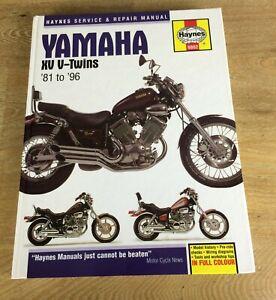 HAYNES MANUAL YAMAHA XV (VIRAGO) V-TWINS 1981-96 535,750,920,1000,1100 & TR1