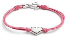 Designer - Tribal Steel - Ladies Leather Bracelet with Heart - Assorted Colours