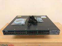 Cisco WS-C3560X-48PF-L 48 Port Gigabit PoE+ Switch 15.2 OS 1100WAC Power x 2