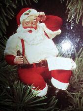 HALLMARK Keepsake 1992 PLEASE PAUSE HERE Santa Coca Cola CHRISTMAS ORNAMENT VTG