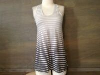 GAP Womens Gray and White Striped  Tank Top SIZE XS LOOSE FIT