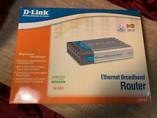 D-Link Dsl Ethernet Broadband Router Wired 4 Port (Di-604) Xbox Live Compatible