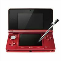 Nintendo 3DS Console Flare Red Console Only JAPAN OFFICIAL IMPORT