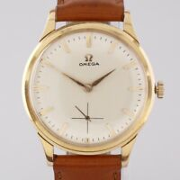 Vintage 18ct Rose Gold Omega Manual Wristwatch c. 1960s with Omega Box