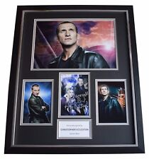 Christopher Eccleston SIGNED Framed Photo Autograph Huge display Doctor Who COA