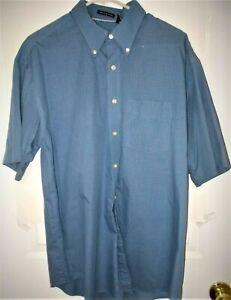 Van Heusen Men's button down S/S shirt, Wrinkle Free, Fine Check 16-16 1/2