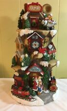 Vintage Resin Christmas Sculpture Airport Happy Holidays Designed by Jaimy