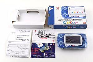 Console Wonderswan Color Bandai System Clear Blue Japan V/Good